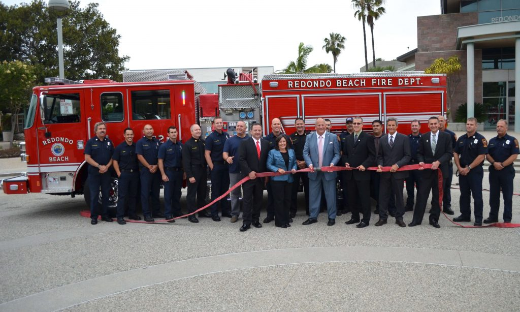 Fire Department Truck Ribbon Cutting