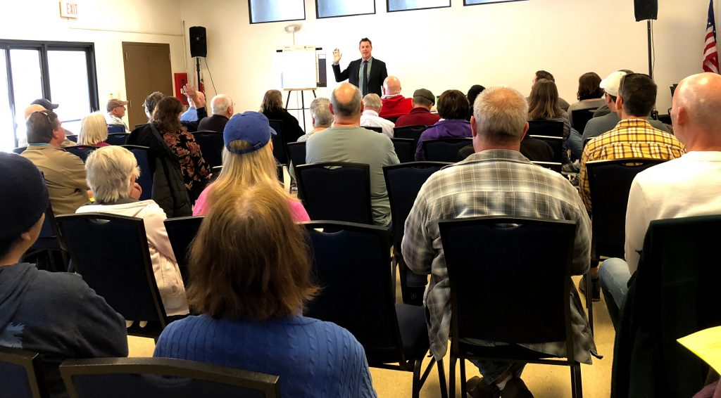 Keith Kauffman at community meeting