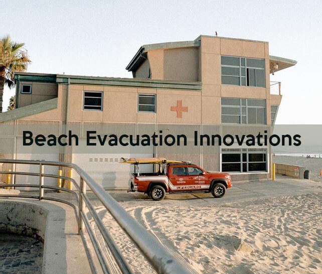 Beach Red Truck